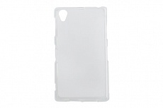 Чехол Drobak Elastic PU для Sony Xperia Z1 C6902 (White Clear)