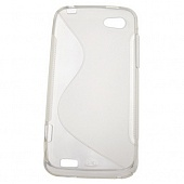 Чехол Drobak Elastic Rubber для HTC One V T320e (Grey-clear)