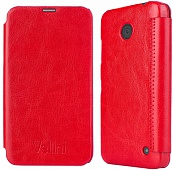 Чехол Vellini Book Style для Nokia Lumia 630 Quad Core Dual Sim (Red)