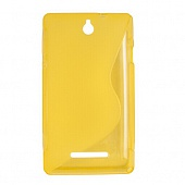 Чехол Drobak Elastic PU для Sony Xperia E C1605 (Yellow)