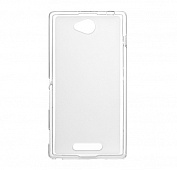 Чехол Drobak Elastic PU для Sony Xperia C C2305 (White Clear)
