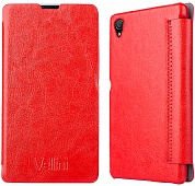 Чехол Vellini Book Style для Sony Xperia Z1 C6902 (Red)