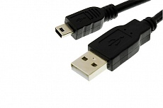 Кабель Drobak USB 2.0 AM–Mini USB Тип B 0,1м