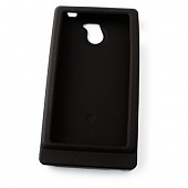 Чехол Drobak Silicone Case для Sony Xperia sola MT27i (Black)