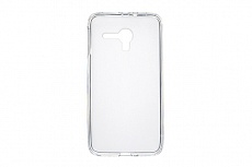 Чехол Drobak Elastic PU для Alcatel Pop D5 (White Clear)